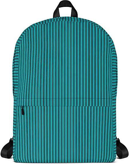 Classic Blue Pinstripe Backpack - Designer Bags