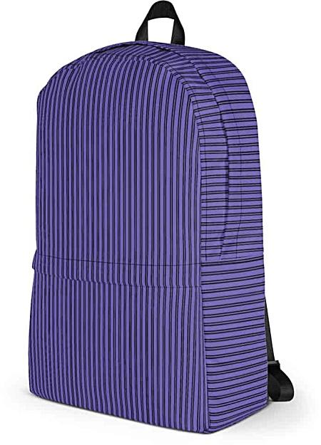 Classic Purple Pinstripe Backpack - Designer Bags