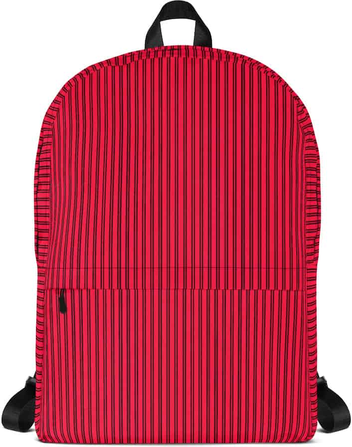 Classic Red Pinstripe Backpack - Designer Bags