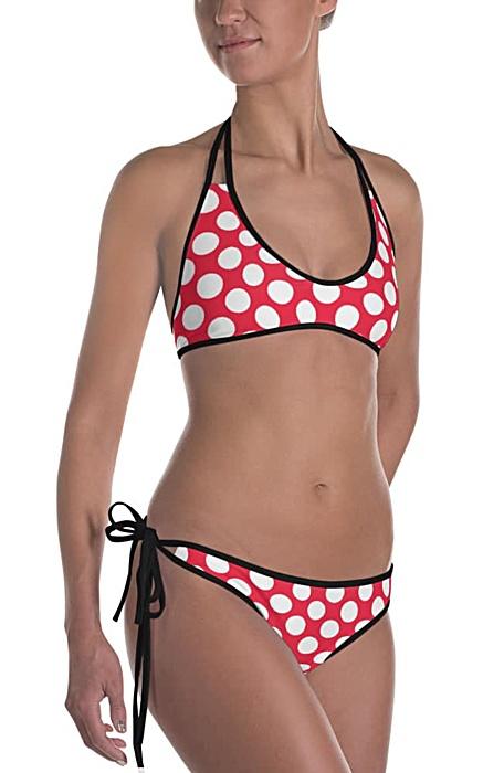 Classic polka dot bikini two piece bathing swim suit