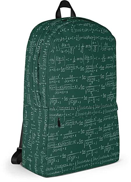 Chalkboard Trigonometry Math Backpack