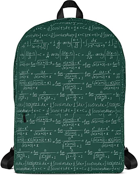 Chalkboard Trigonometry Math Backpack