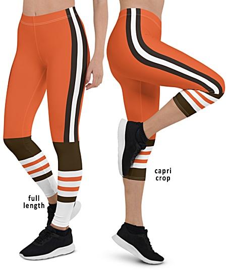 Cleveland Browns NFL Football Leggings Orange