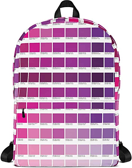 Pink Color Pantone Backpack for Graphic Designers