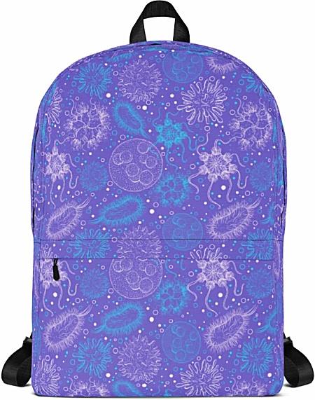 microbiologist scientist microbiology microbe virus backpack bag