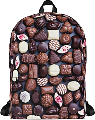 Chocolate backpack - candy bar bag - bon bon