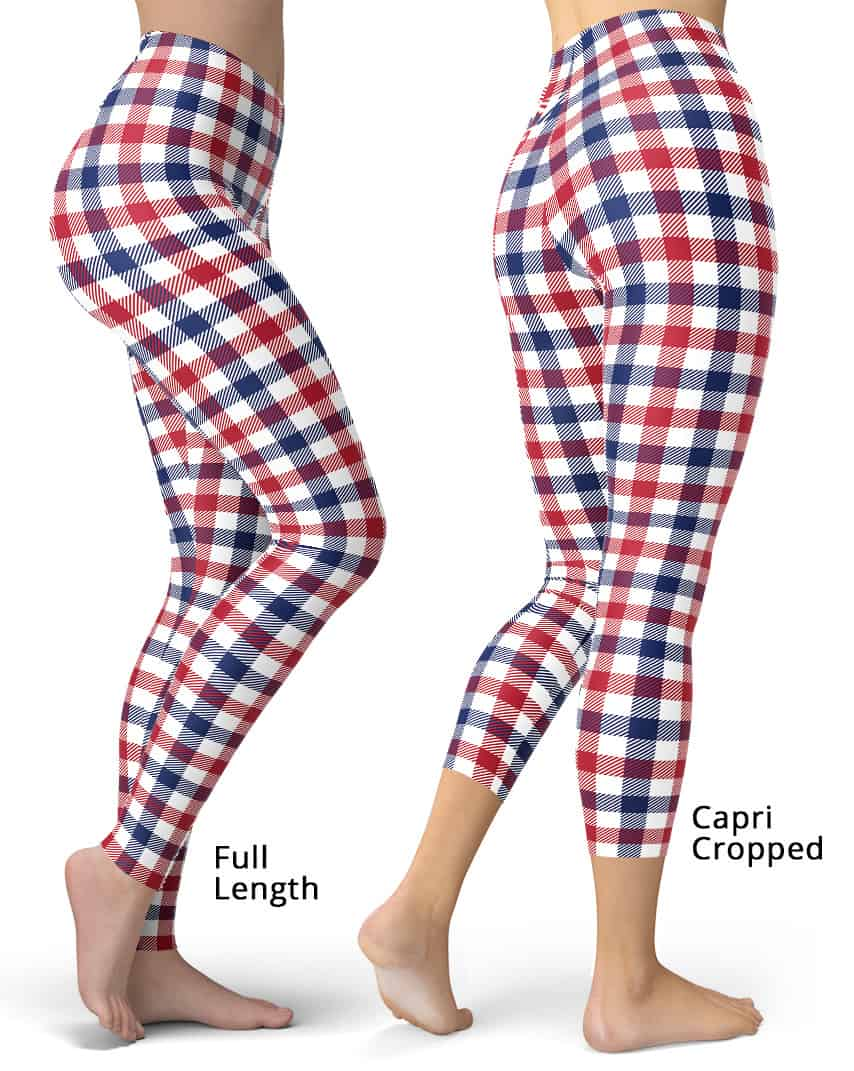 c951458610fa8 4th of July Red White & Blue Plaid Leggings - Designed By Squeaky ...