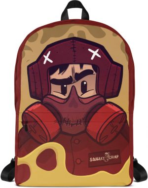 Designer laptop backpack industrial cartoon gas mask with anti theft hidden pocket