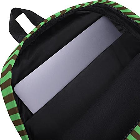 Green monkey backpack - chimpanzee laptop bag - tablet case