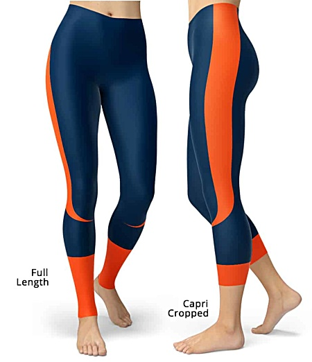 Colorado Denver Broncos NLF Football Leggings for Tailgating Parties