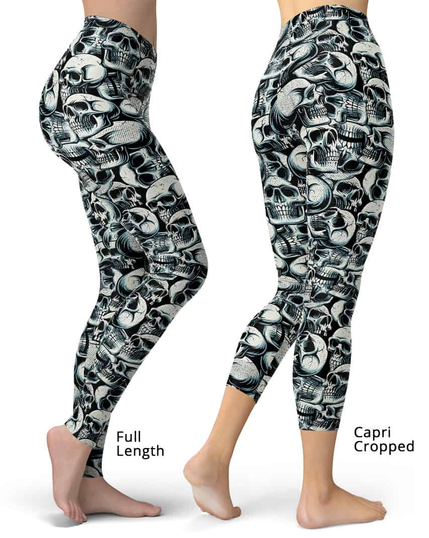 db5469961749a9 Halloween Catacomb Skulls Leggings - Designed By Squeaky Chimp ...