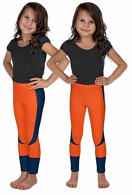 Children child kid kids teen sizes Denver Broncos uniform leggings NFL Football pants