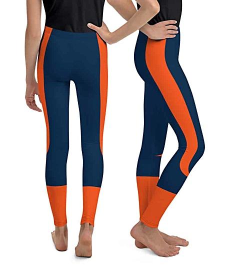 Children child kid kids teen sizes Denver Broncos uniform leggings NFL Football pants