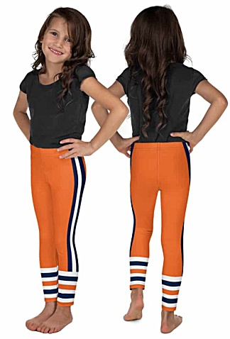 Children child kid kids teen sizes Chicago Bears uniform leggings NFL Football pants blue orange