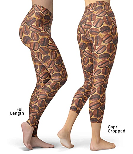 Addicted to Caffeine Lover Coffee Bean leggings