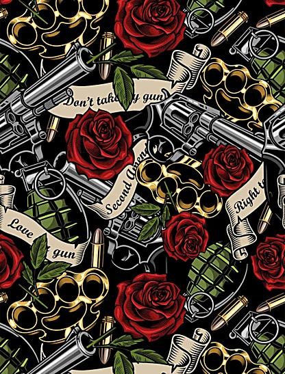 gun rights second amendment right to bear arms leggings exercise tights women's grenade rose gun guns weapons