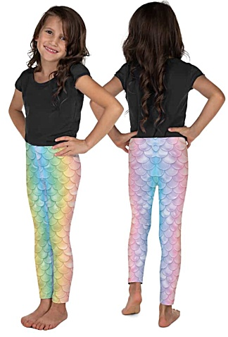 halloween costume mermaid leggings pants for kids children girls teenager