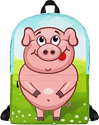 little piglet pig pigs backpack rugsack bag school books laptop tablet