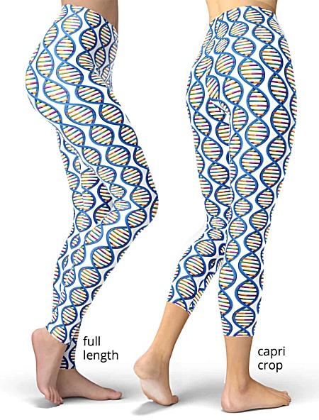 dna science biology chemistry genome gene splicing chromosome legging leggings women