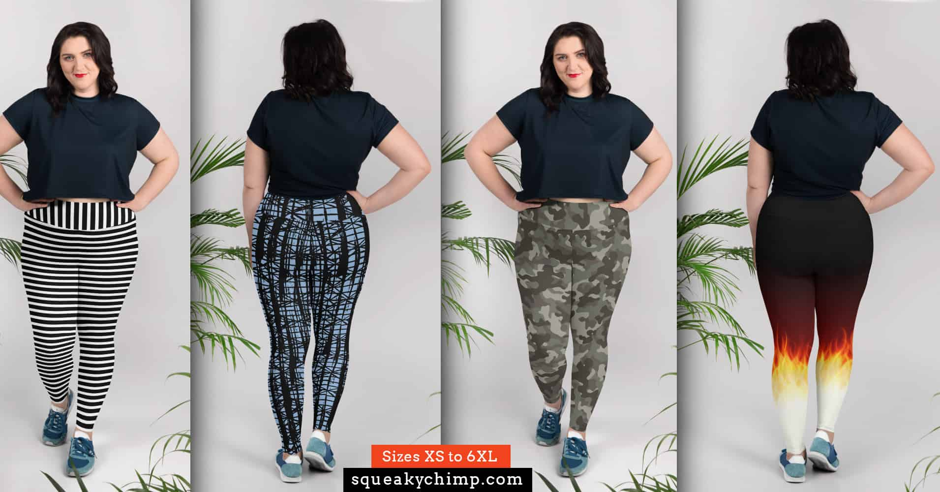 644505dc9e3b8d Plus Size Leggings - Page 2 of 10 - Squeaky Chimp Tshirts & Leggings