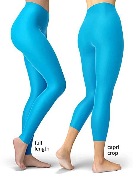 Solid blue leggings