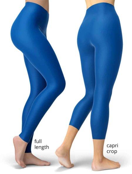 Solid dark blue leggings