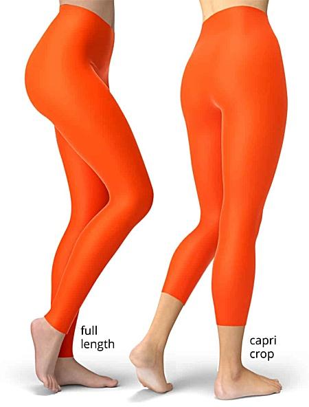 Solid orange leggings