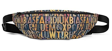 printer letter letters lettering press print alphebet antique vintage bumbag bumbag bag hip packs fanny pack belt
