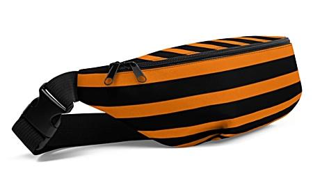red white green blue black orange stripe stripes striped stripped horizontal vertical strips bumbag bumbag bag hip packs fanny pack belt