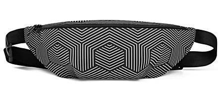 black & white dizzy pattern bumbag bumbag bag hip packs fanny pack belt