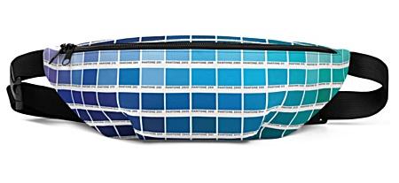 trendy designer graphic color colors block art artist pantone bumbag bumbag bag hip packs fanny pack belt