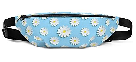 flower flowers daisy daisies blue summer spring floral Fanny Pack bumbag bumbag bag hip packs fanny pack belt