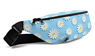 flower flowers daisy daisies blue summer spring floral Fanny Pack bumbag bumbag bag hip packs fanny pack belt