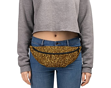 metal metallic gold shimmer shimmery glitter glittery bumbag bumbag bag hip packs fanny pack belt