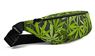 marijuana, cannabis, hemp, pot, weed, dope, ganja, splif leaf plant bumbag bumbag bag hip packs fanny pack belt