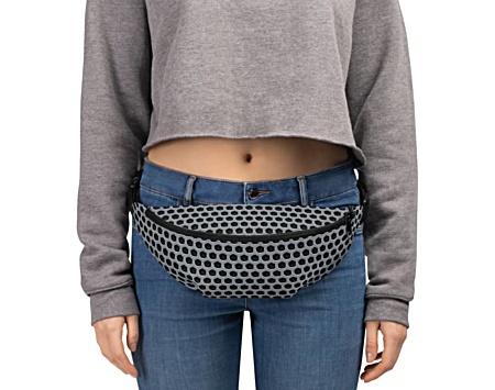 metal metallic silver grill grille gothic bumbag bumbag bag hip packs fanny pack belt