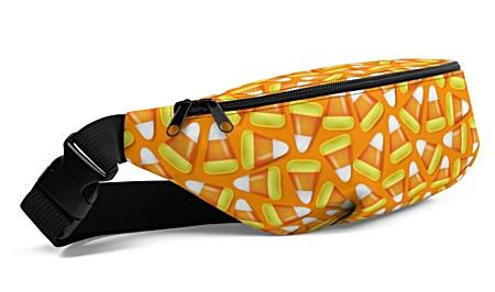 Halloween candy corn orange Fanny Pack bumbag bumbag bag hip packs fanny pack belt
