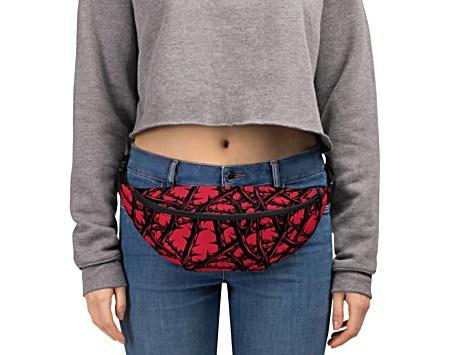gothic thorn vine red bumbag bumbag bag hip packs fanny pack belt