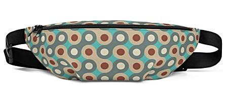 vintage hippy groovy retro Retro Geometry Fanny Pack bumbag bumbag bag hip packs fanny pack belt