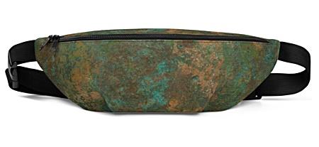 metal metallic copper rust green blue brown earth bumbag bumbag bag hip packs fanny pack belt