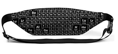 bumbag bumbag bag hip packs science math chemicals symobl periodic table fanny pack