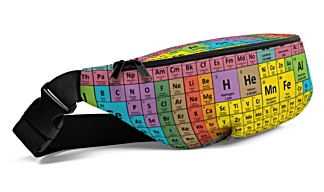 bumbag bumbag bag hip packs science math chemicals symobl periodic table fanny pack