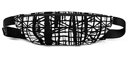 trendy designer smeared ink bumbag bumbag bag hip packs fanny pack belt