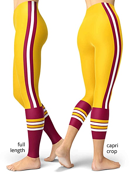 Washington Redskins Game Day Uniform Leggings Football NFL games sport sports tailgating