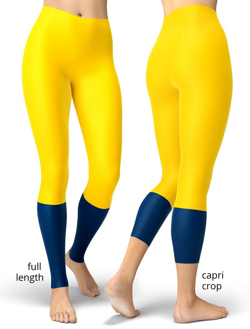 Michigan Wolverines University CollegeGame Day Uniform Leggings Football NFL games sport sports tailgating