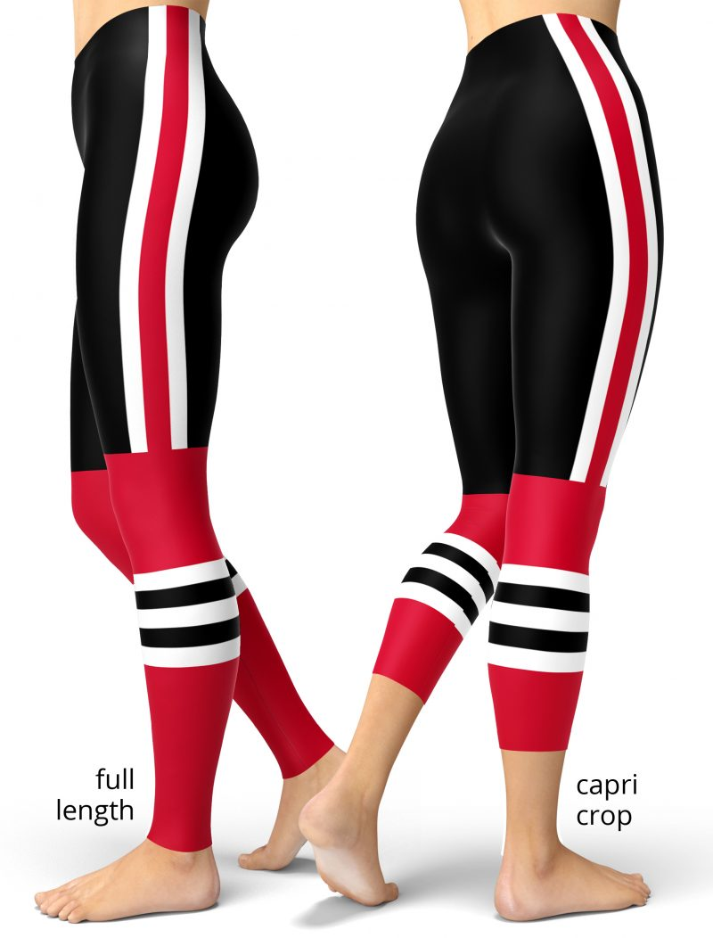 Chicago Blackhawks NHL Hockey Uniform Leggings