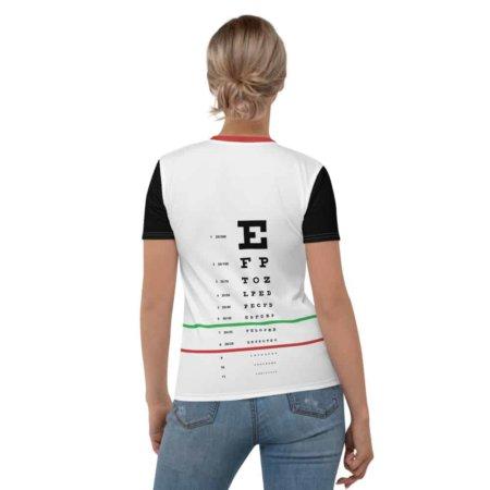 Eye Exam Snellen T shirt - Short Sleeve Top