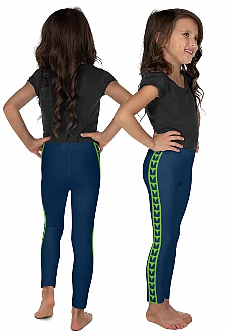 Seattle Seahawks Game Day Uniform Leggings for kids children