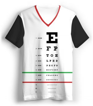 snellen eye doctor exam letters chart optometrist t-shirt tee tshirt for women girls