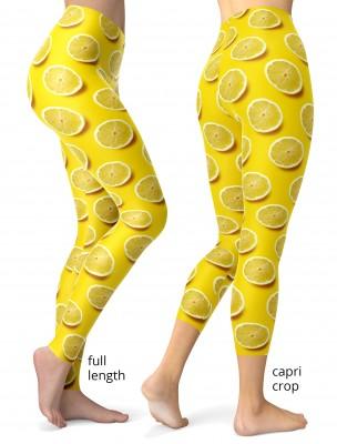 fruit green avocado yellow lemon orange purple fig leggings fresh food colorful designer hot cute adorable fun